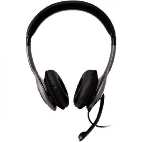 V7 Deluxe USB Stereo Headphones With Microphone Front/500