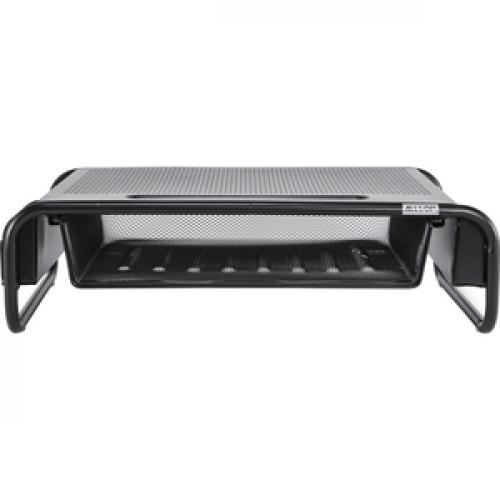 Allsop Metal Art Organizer 5 Monitor Stand With Drawer   (32166) Front/500