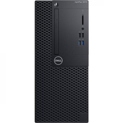 Dell OptiPlex 3000 3070 Desktop Computer   Intel Core I5 9th Gen I5 9500 3 GHz   4 GB RAM DDR4 SDRAM   500 GB HDD   Tower Front/500