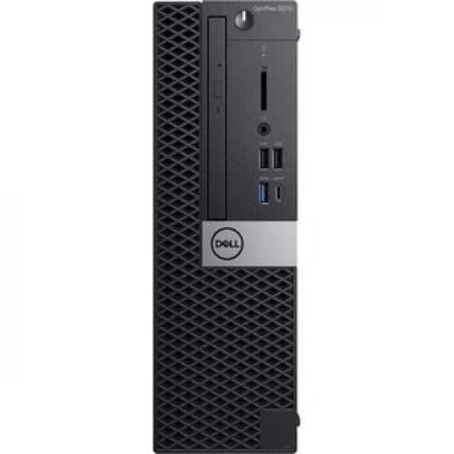 Dell OptiPlex 5000 5070 Desktop Computer   Intel Core I7 9th Gen I7 9700 3 GHz   8 GB RAM DDR4 SDRAM   500 GB HDD   Small Form Factor Front/500