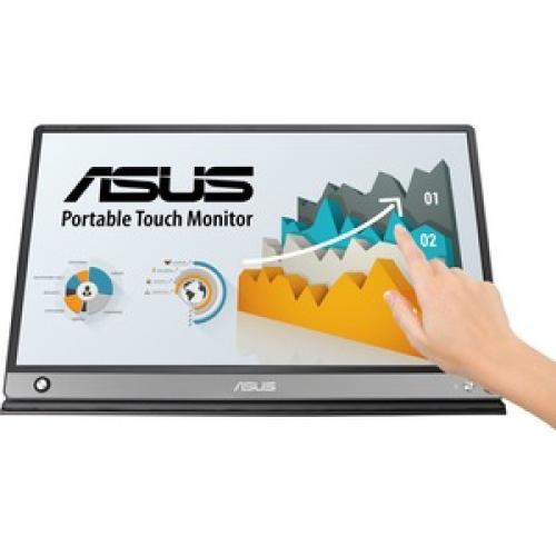 "Asus ZenScreen MB16AMT 15.6"" LCD Touchscreen Monitor   16:9   5 Ms GTG Front/500"