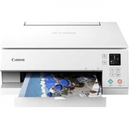 Canon PIXMA TS TS6320 White Inkjet Multifunction Printer   Color Front/500
