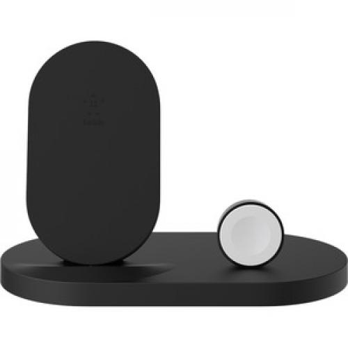 Belkin BOOST↑UP Wireless Charging Dock For IPhone + Apple Watch + USB A Port Front/500