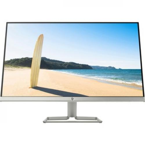 """HP 27fwa 27"""" Full HD LCD Monitor With Integrated Audio Silver & White   1920 X 1080 FHD Display @ 60Hz   Fully Integrated Audio   Ultra Slim Micro Edge Display   In Plane Switching (IPS) Technology   AMD FreeSync Technology Front/500"""