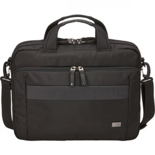 """Case Logic Carrying Case (Briefcase) For 14"""" Notebook, Tablet PC, Portable Electronics, Accessories   Black Front/500"""
