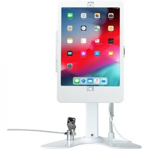 CTA Digital Desk Mount For IPad, IPad Air, IPad Pro, Card Reader   White Front/500