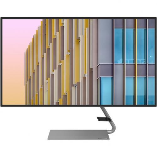 """Lenovo Q27h 10 27"""" WQHD WLED LCD Monitor   16:9   Gray Front/500"""