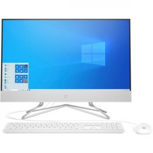 "HP 24 Series 23.8"" All In One Desktop Computer Intel Core I5 12GB RAM 512GB SSD Snow White   10th Gen I5 1035G1 Quad Core   USB Wired Keyboard & Mouse Included   3 In 1 Memory Card Reader   DVD Writer   Windows 10 Home Front/500"