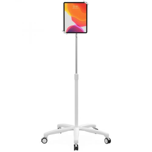 CTA Digital Heavy Duty Medical Mobile Floor Stand For 7 13 Inch Tablets (White) Front/500