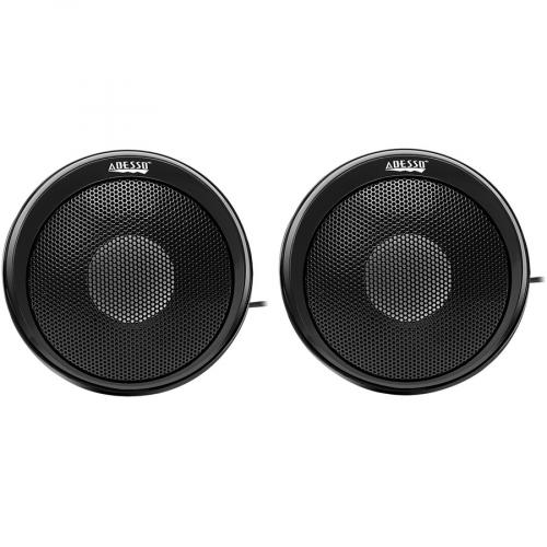 Adesso Xtream S4 USB Powered Desktop Computer Speaker With Dynamic Sound   5W X 2 Front/500