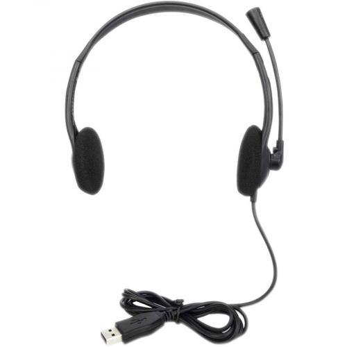 Manhattan Stereo USB Headset Front/500
