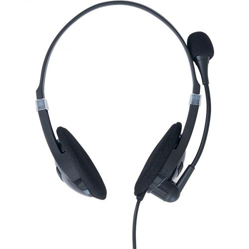 Verbatim Stereo Headset With Microphone And In Line Remote Front/500