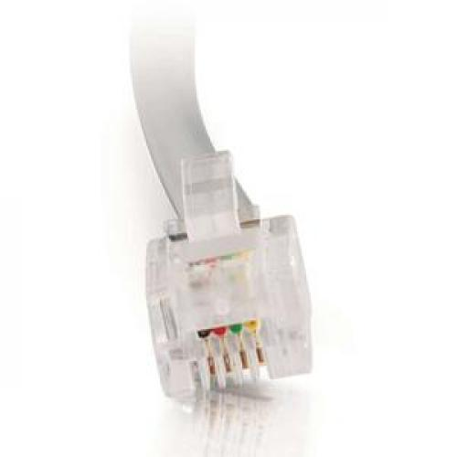 C2G 7ft RJ11 Modular Telephone Cable Front/500