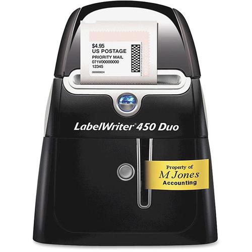 Dymo LabelWriter 450 Duo Direct Thermal Printer   Monochrome   Platinum   Label Print Hero-Shot/500