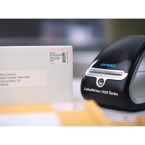 Dymo LabelWriter 450 Direct Thermal Printer   Monochrome   Label Print   USB   Black, Silver Hero-Shot/500