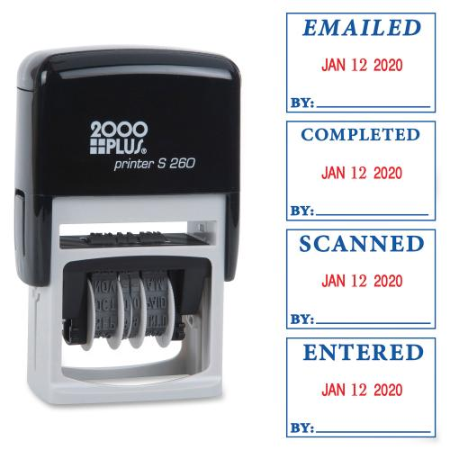 2000 PLUS 011098 Consolidated Stamp 5 Year Date Band Message