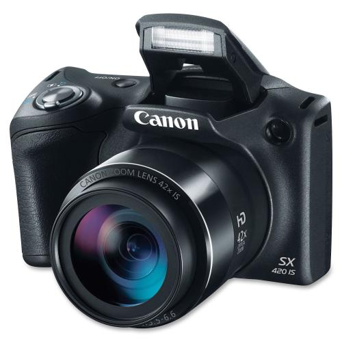 Canon PowerShot SX420 IS 20 Megapixel Compact Camera   Black Hero-Shot/500