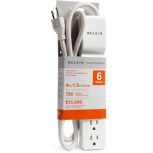 Belkin Home/Office BE106000 10 6 Outlets Surge Suppressor In-Package/500