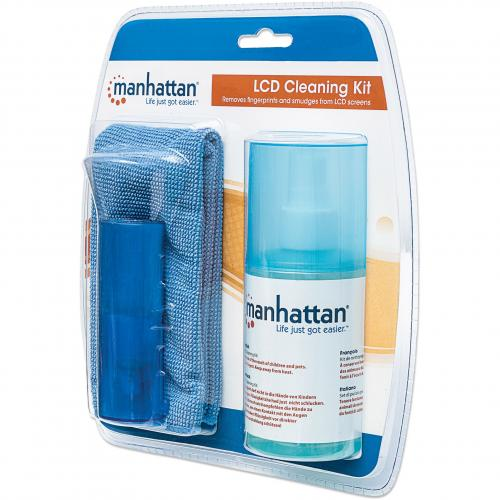 Manhattan LCD Cleaning Kit (6.75 Ounces) With Microfiber Cloth And Retractable Brush In-Package/500
