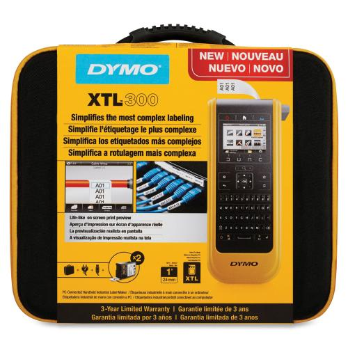 DYMO XTL 300 Label Maker Bundle QWERTY Keyboard (1868814) In-Package/500
