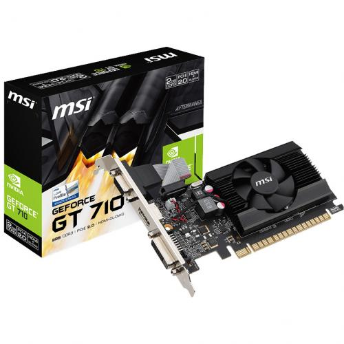 MSI GeForce 710 Graphics Card     2GB 64 Bit DDR3   Includes Fan Cooler   NVIDIA GeForce GT 710 954 MHz   Low Profile Video Card In-Package/500