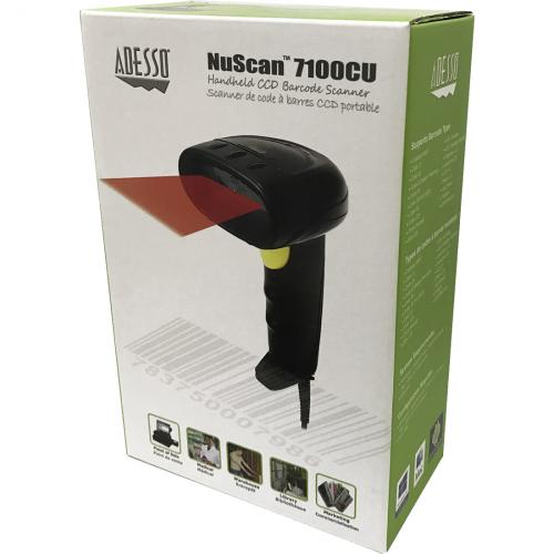 Adesso NuScan 7100CU Handheld CCD Barcode Scanner In-Package/500