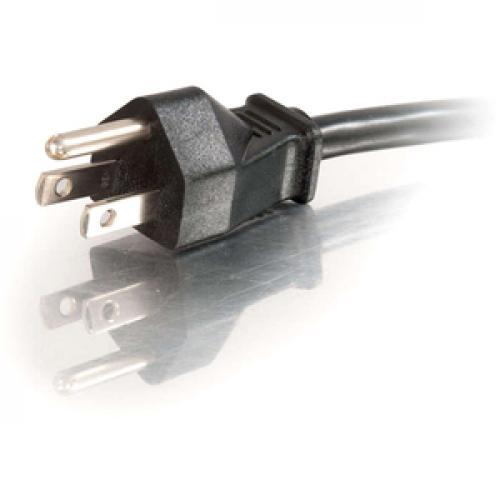 C2G 18in 1 To 4 Power Cord Splitter   16 AWG   NEMA 5 15 To NEMA 5 15R Left/500
