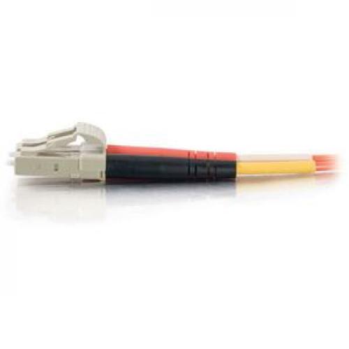 C2G 30m LC LC 50/125 OM2 Duplex Multimode PVC Fiber Optic Cable (USA Made)   Orange Left/500