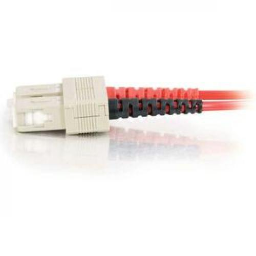 C2G 3m SC SC 62.5/125 OM1 Duplex Multimode PVC Fiber Optic Cable   Red Left/500