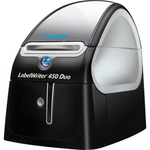 Dymo LabelWriter 450 Duo Direct Thermal Printer   Monochrome   Platinum   Label Print Left/500