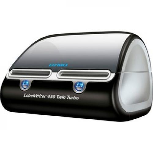 Dymo LabelWriter Direct Thermal Printer   Monochrome   Platinum   Label Print   USB Left/500