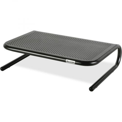 Allsop Metal Art Jr. Monitor Stand 14 Inch Wide Platform   Pearl Black (30165) Left/500