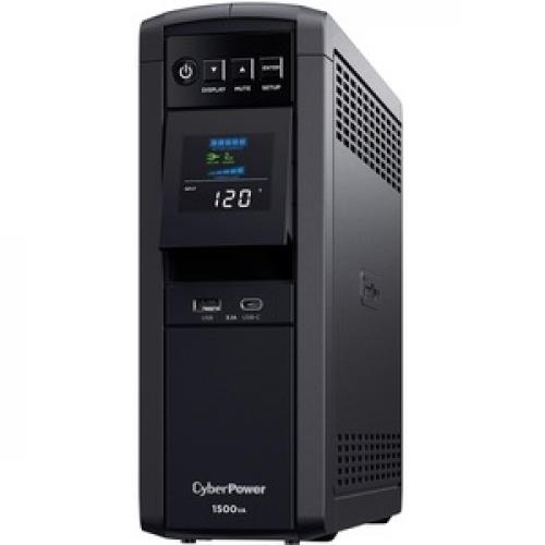 CyberPower CP1500PFCLCD UPS 1500VA 900W PFC Compatible Pure Sine Wave Left/500