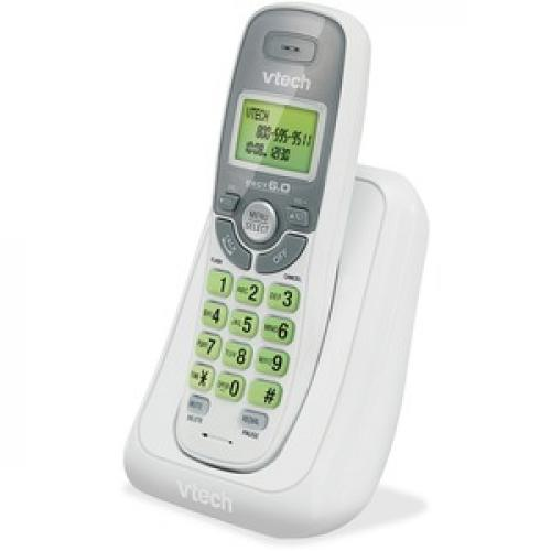 VTech CS6114 DECT 6.0 Cordless Phone With Caller ID/Call Waiting, White With 1 Handset Left/500