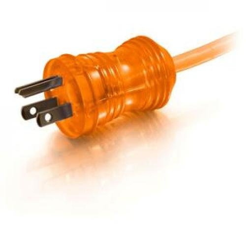 C2G 75ft 16 AWG Hospital Grade Power Extension Cord (NEMA 5 15P To NEMA 5 15R)   Orange Left/500