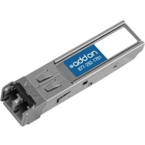 AddOn Cisco GLC LX SM RGD Compatible TAA Compliant 1000Base LX SFP Transceiver (SMF, 1310nm, 10km, LC, DOM, Rugged) Left/500