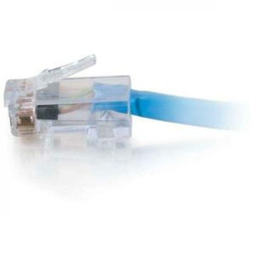 C2G 7ft Cat6 Non Booted Network Patch Cable (Plenum Rated)   Blue Left/500