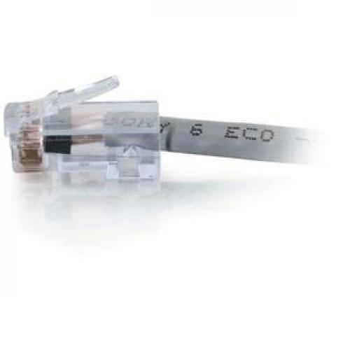 C2G 35ft Cat6 Non Booted Network Patch Cable (Plenum Rated)   Gray Left/500
