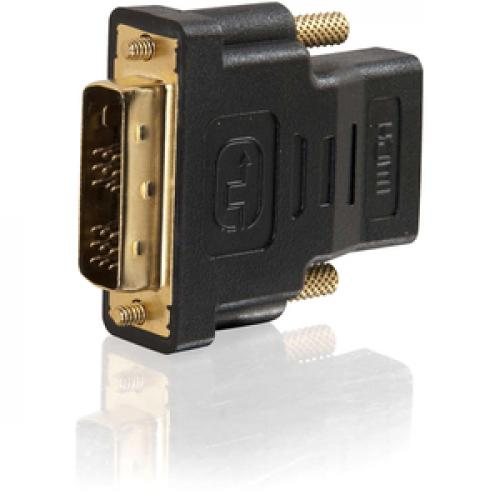 C2G DVI D To HDMI Adapter   Inline Adapter   Male To Female Left/500