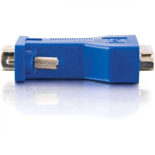 C2G DVI To VGA Video Adapter   1 X DVI A Female Video   1 X HD 15 Male   Black Left/500