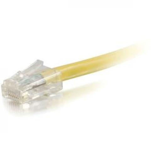 C2G 1ft Cat6 Non Booted Unshielded (UTP) Network Patch Cable   Yellow Left/500