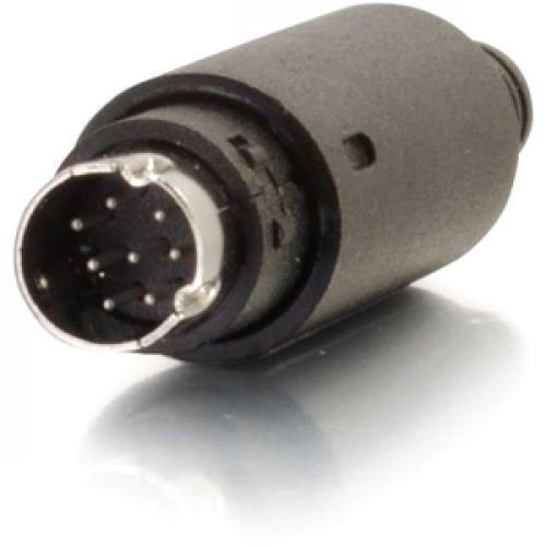 C2G 8 Pin Mini Din Male Connector   Black Left/500