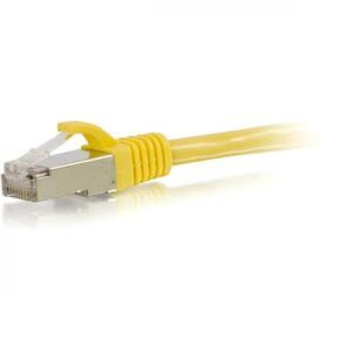 C2G 10ft Cat6 Snagless Shielded (STP) Network Patch Cable   Yellow Left/500