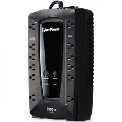 CyberPower AVR Series AVRG900U 900VA 480W Desktop UPS With AVR And USB Left/500