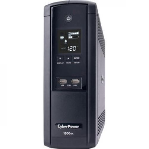 CyberPower UPS Systems BRG1500AVRLCD Intelligent LCD    Capacity: 1500 VA / 900 W Left/500