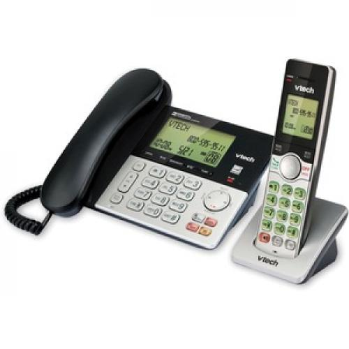 VTech CS6949 DECT 6.0 Standard Phone   Black, Silver Left/500