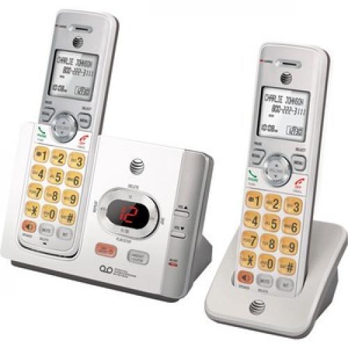AT&T EL52215 DECT 6.0 Cordless Phone   Silver, Black Left/500