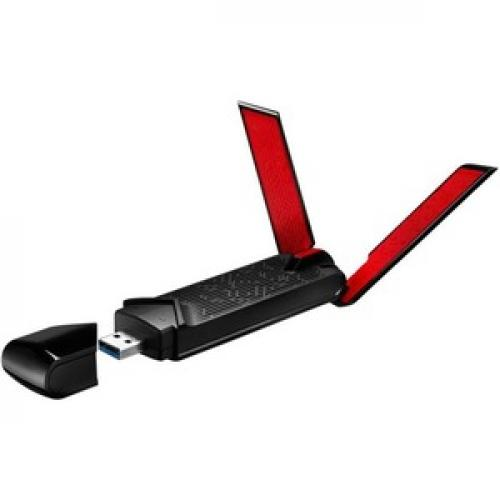 Asus USB AC68 IEEE 802.11ac   Wi Fi Adapter For Desktop Computer/Notebook Left/500