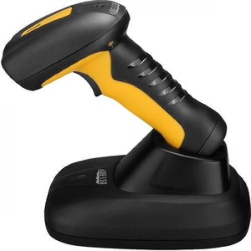 Adesso NuScan 4100B Bluetooth Antimicrobial Waterproof CCD Barcode Scanner Left/500