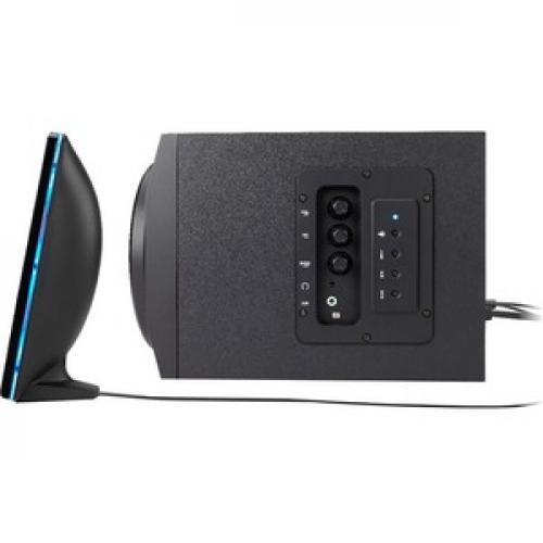 Cyber Acoustics Curve CA 3712BT 2.1 Bluetooth Speaker System   Black Left/500